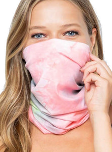 Pink Tie Dye Face Covering