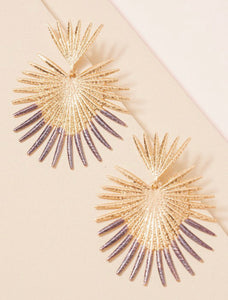 Gray Spiked Earrings