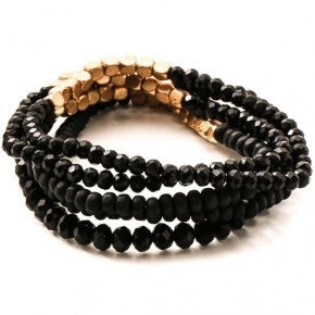 Black and Gold Bead Stack