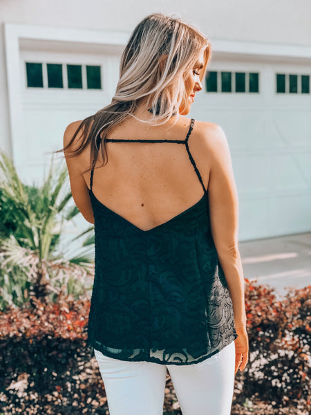 Black Printed Cami