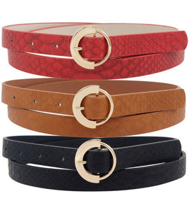 Red, Camel & Black Multi Belt Pack