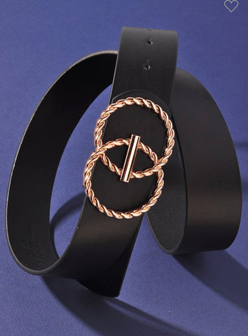 Black Double Circle Chain Belt