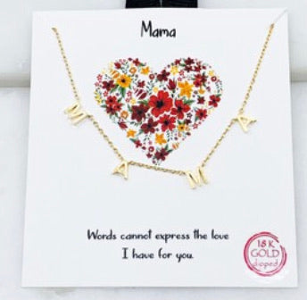 MAMA Gold Necklace