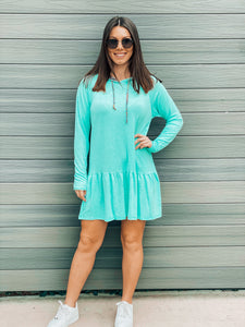 Baby Blue Hooded Tunic Dress