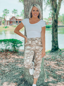 Camo Side Pocket Drawstring Jogger