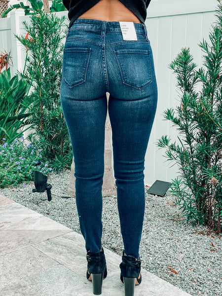 Roxanne Dark Denim High Rise Jeans