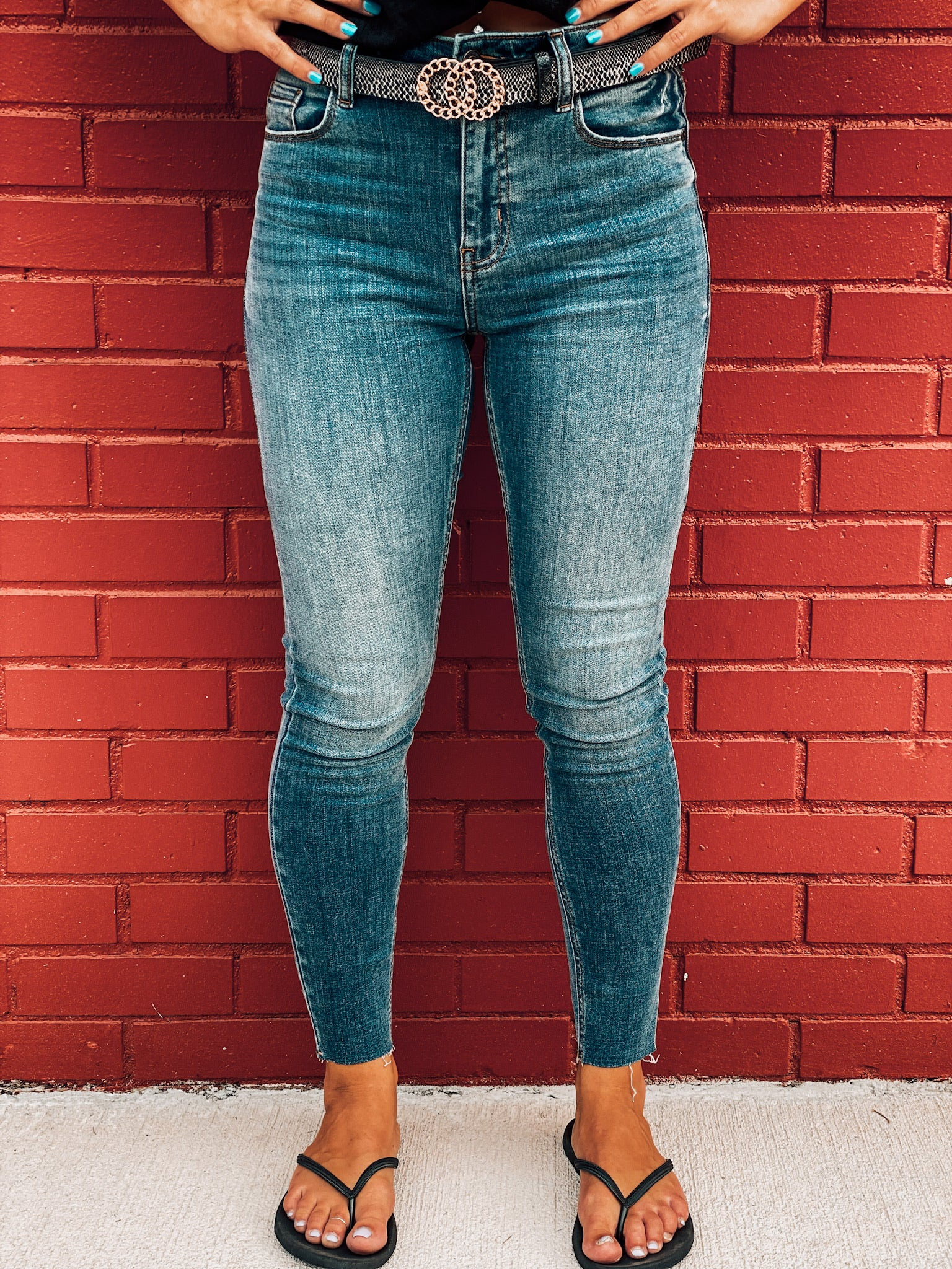 Brooke High Rise Skinny Frayed Crop Jeans
