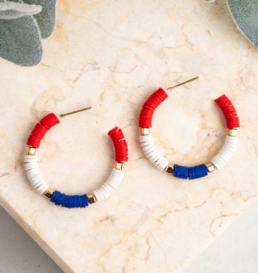 Patriotic Hoop Earrings