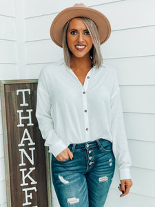 Ivory Button Down Blouse