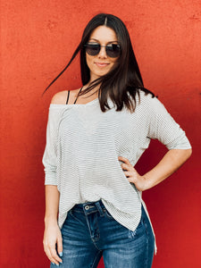 Striped Relax Fit Tunic Top