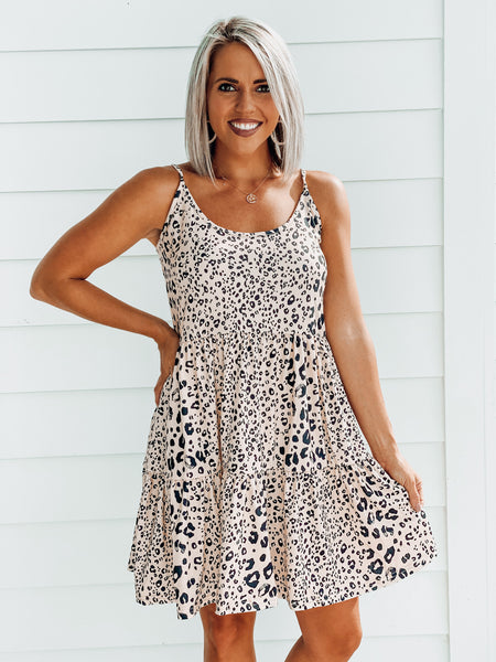 Leopard Tiered Dress