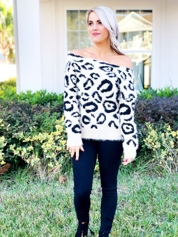 Leopard Print Twist Back Long Sleeve