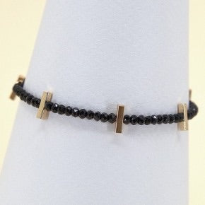 Beaded Bracelet with Gold Bead Detailing