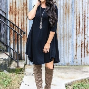 Cotton Flow Black Dress