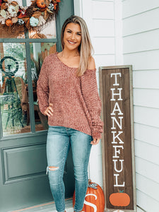Rose Chunky Sweater