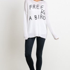 Free As A Bird Oversized Sweater