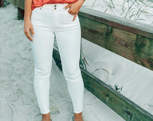 Tatum High Rise White Jeans