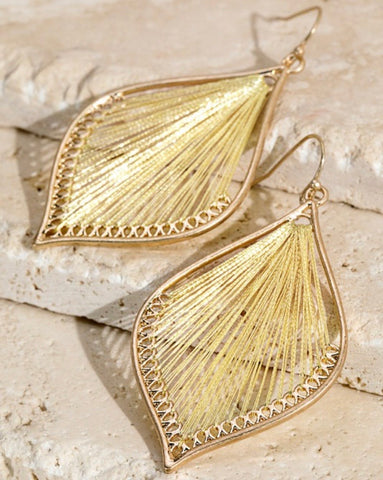 Gold Metallic Thread Earrings
