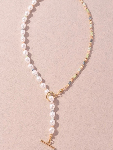 Gold Pearl Strand Necklace