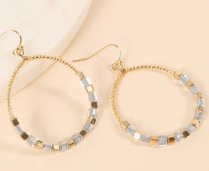 Good & Silver Beaded Hoop Earrings