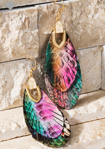 Multi Color Feather Earrings