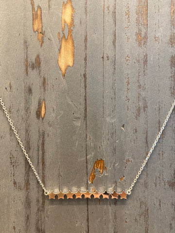 Silver Star Bar Necklace