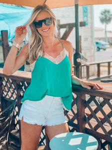 Emerald Green Lace Cami