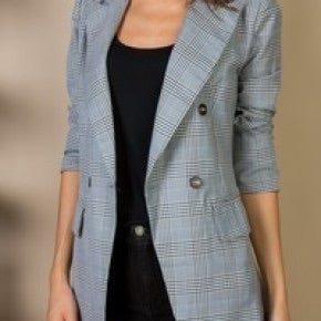 Plaid Blazer Jacket