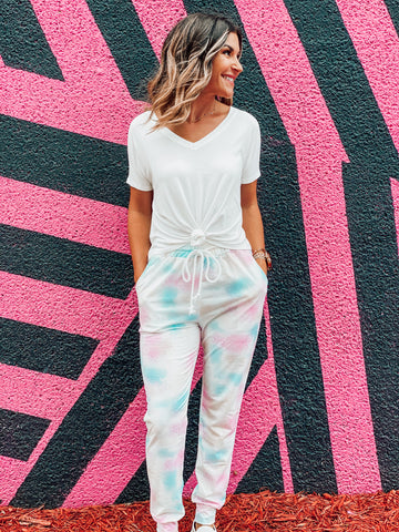 Multi Color Tie Dye Joggers
