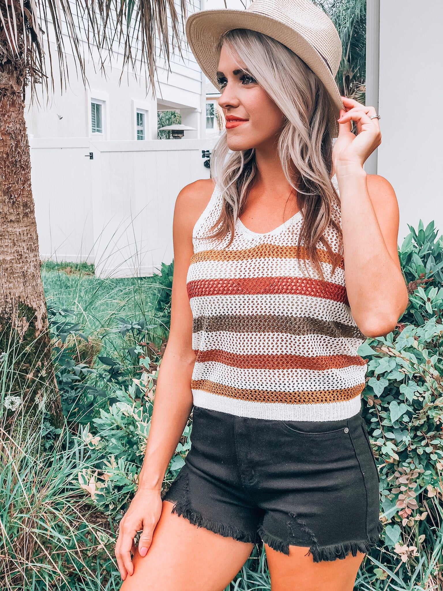 Rust Multi Sweater Tank