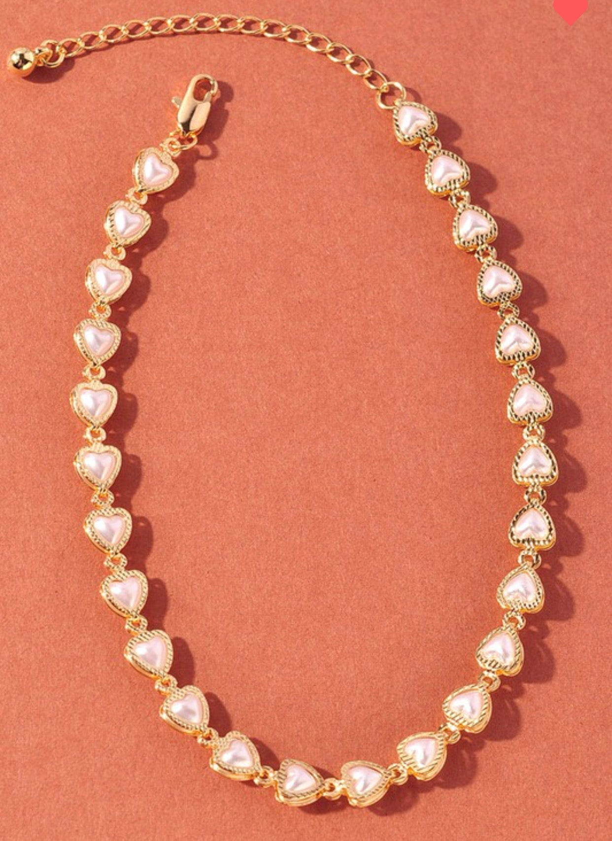 Heart Shaped Pearl Anklet