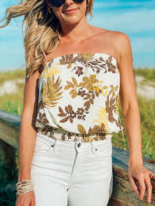 Keeping it Casual Floral Tube Top
