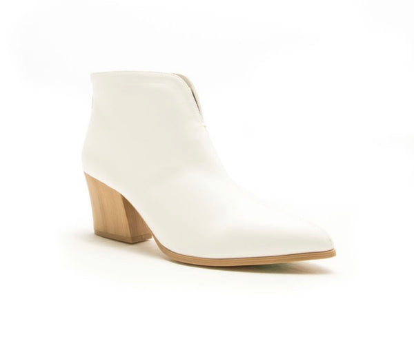 White Slit Booties