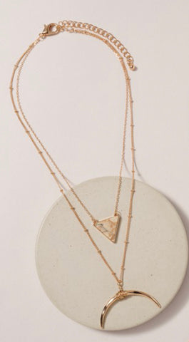 Tusk layered Necklace