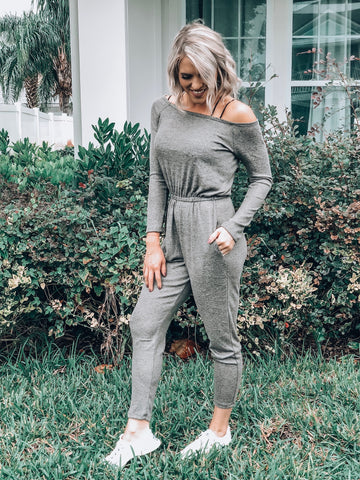 Grey/Olive Cotton Jumpsuit