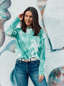 Emerald Tie Dye Long Sleeve Top