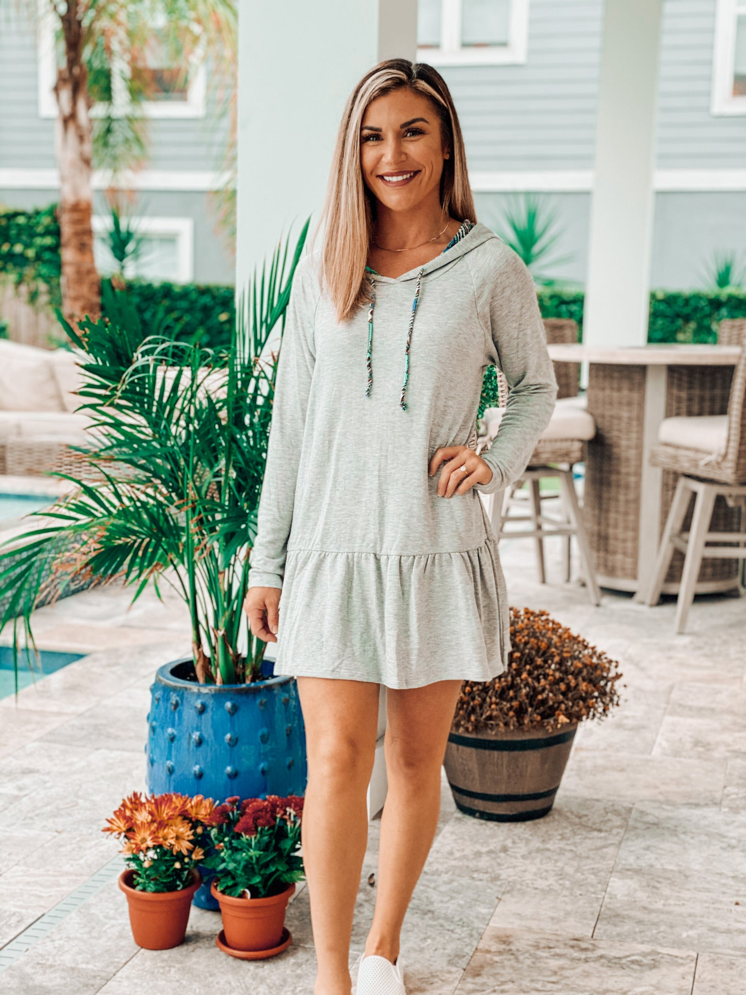 Grey Hoodie Dress