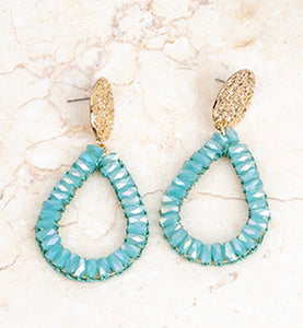 Minty Blue Drop Earrings