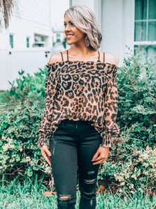 Leopard Smock Off Shoulder