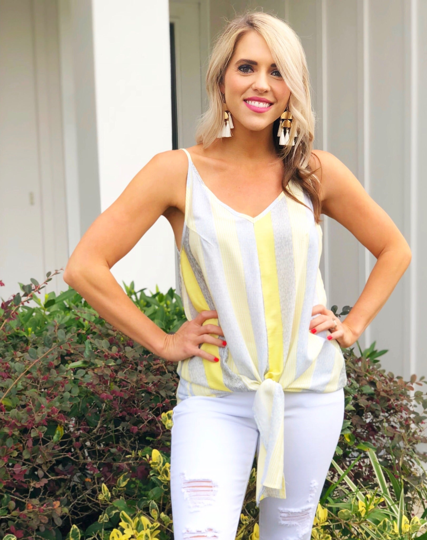 Lemon Striped Top