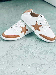 Camel Star Print Sneakers