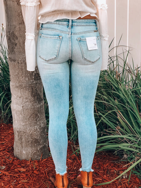 Emily Light Wash Distressed Denim Jeans