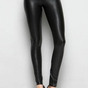 Soft Stretch Leather Leggings