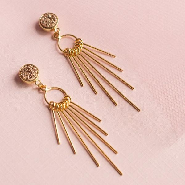 Sparkling Rosé Earrings