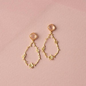 Pink Floral Earrings