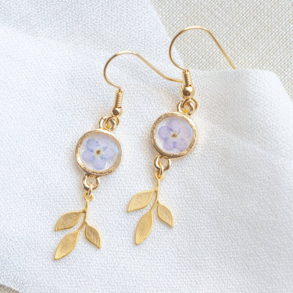 Forget-me-not Pressed Flower Earrings