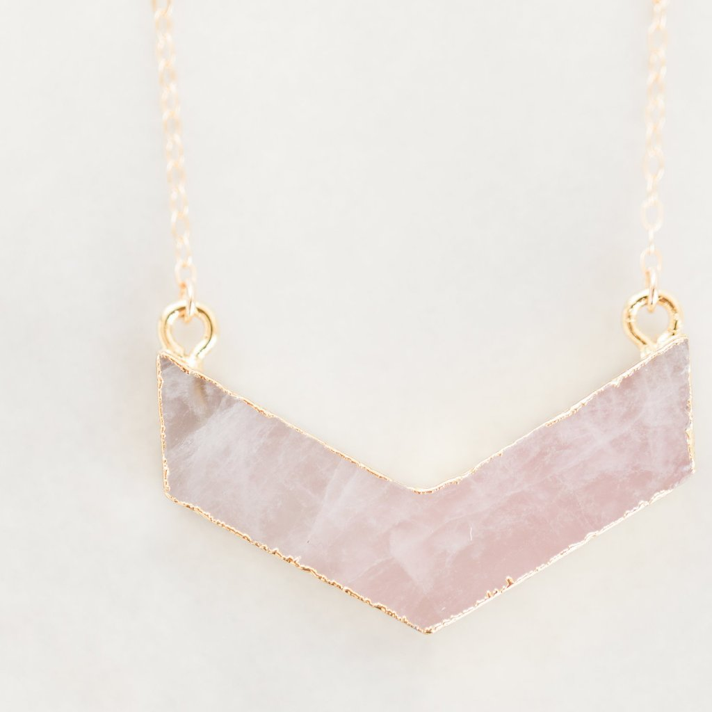 Pink Quartz Necklace