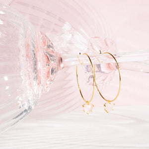 Blush Hearts Medium Hoops