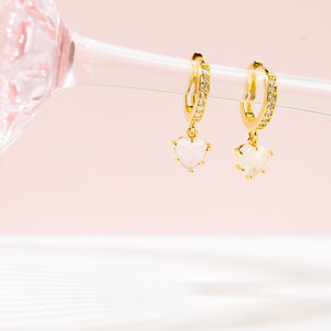 Blush Heart Small Hoops