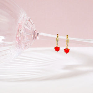 Red Heart Small Hoops
